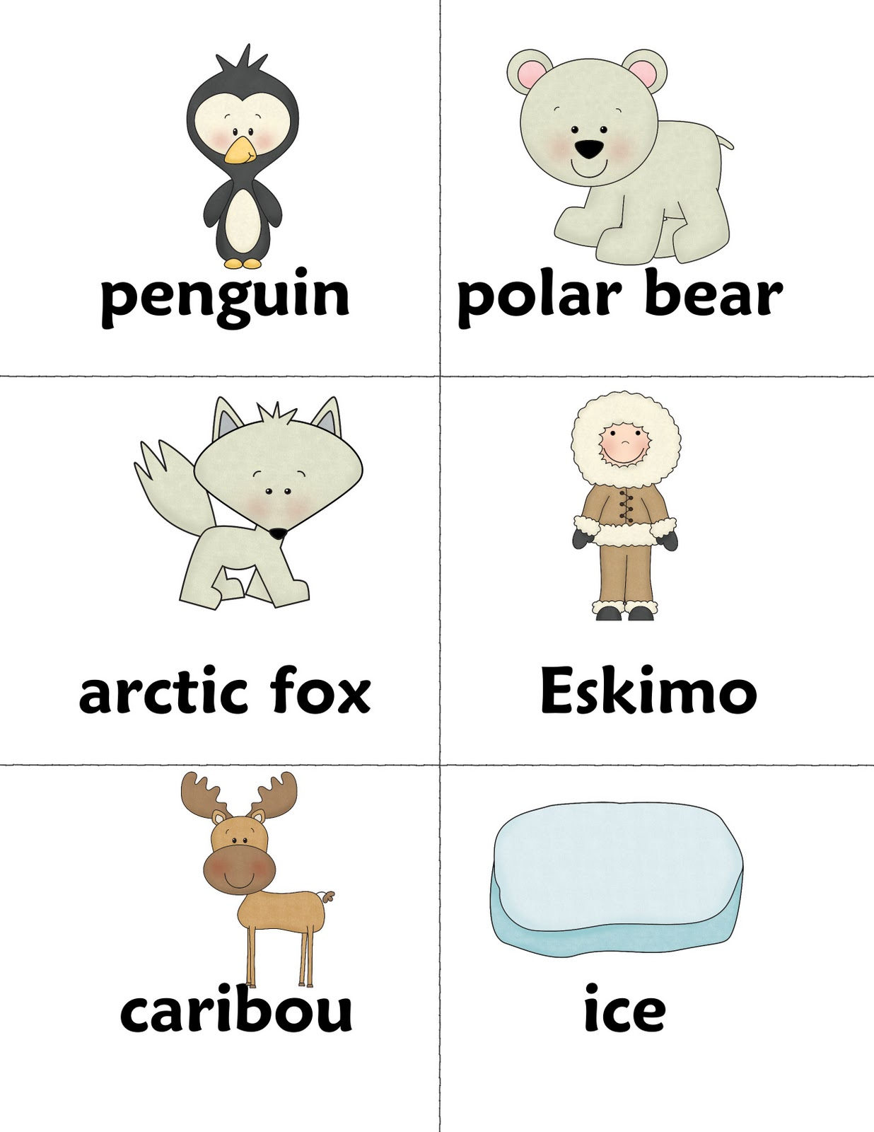 Baby Arctic Animals Worksheet