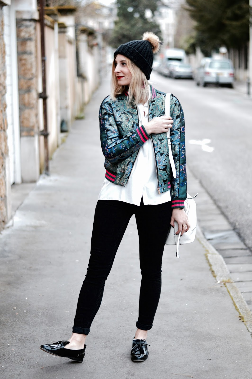 blog mode : look femme bomber