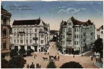 Plac Fredry na pocztówce z 1916