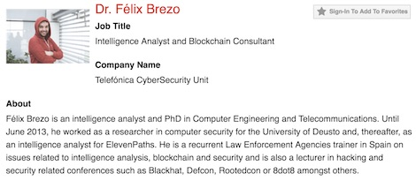 Félix Brezo, analista de inteligencia en ElevenpPaths imagen