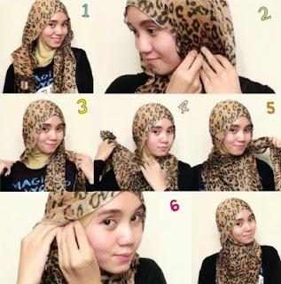 Tutorial hijab pashmina wajah bulat modis