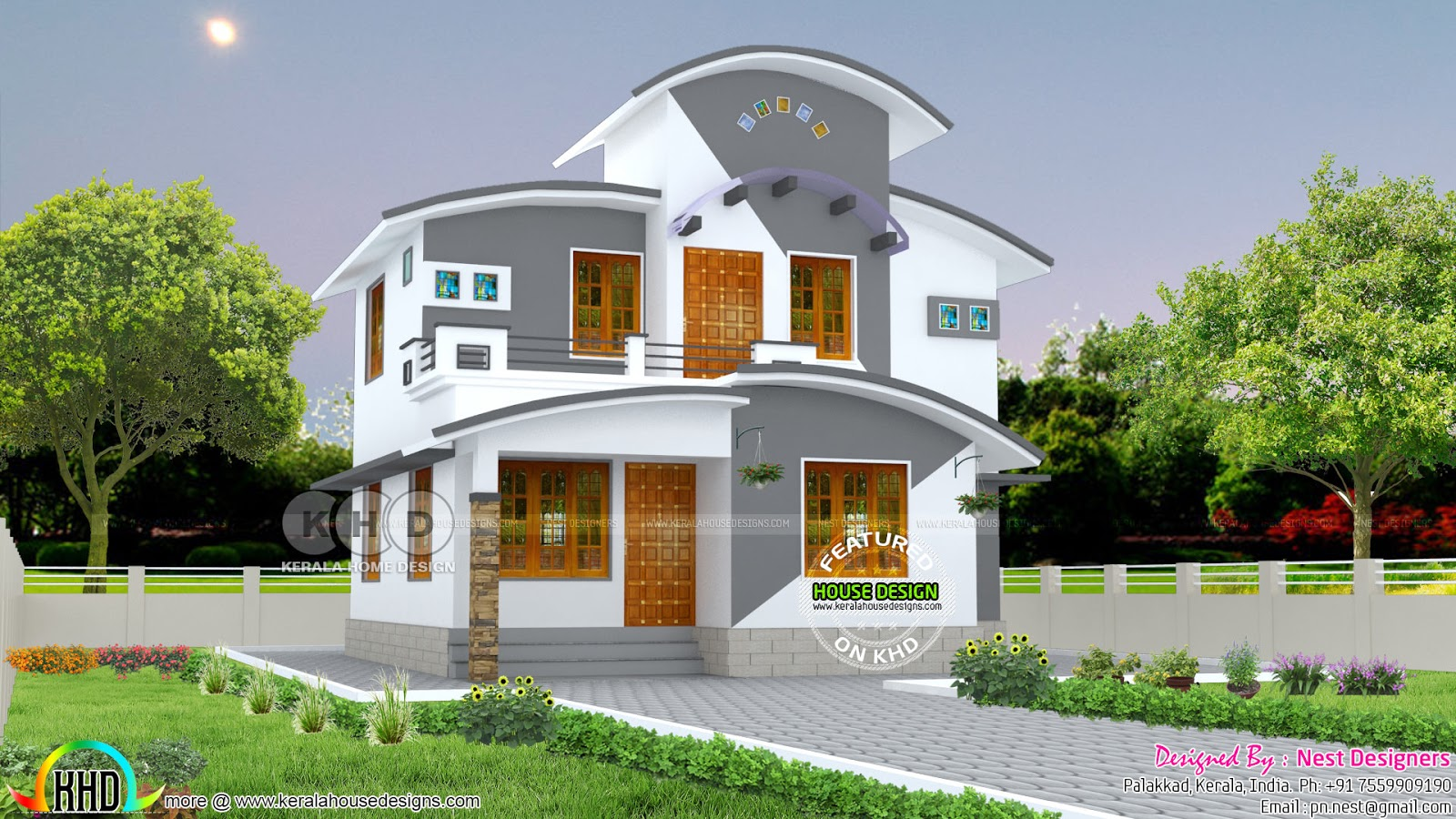 Kerala home design and floor plans for Nest home design