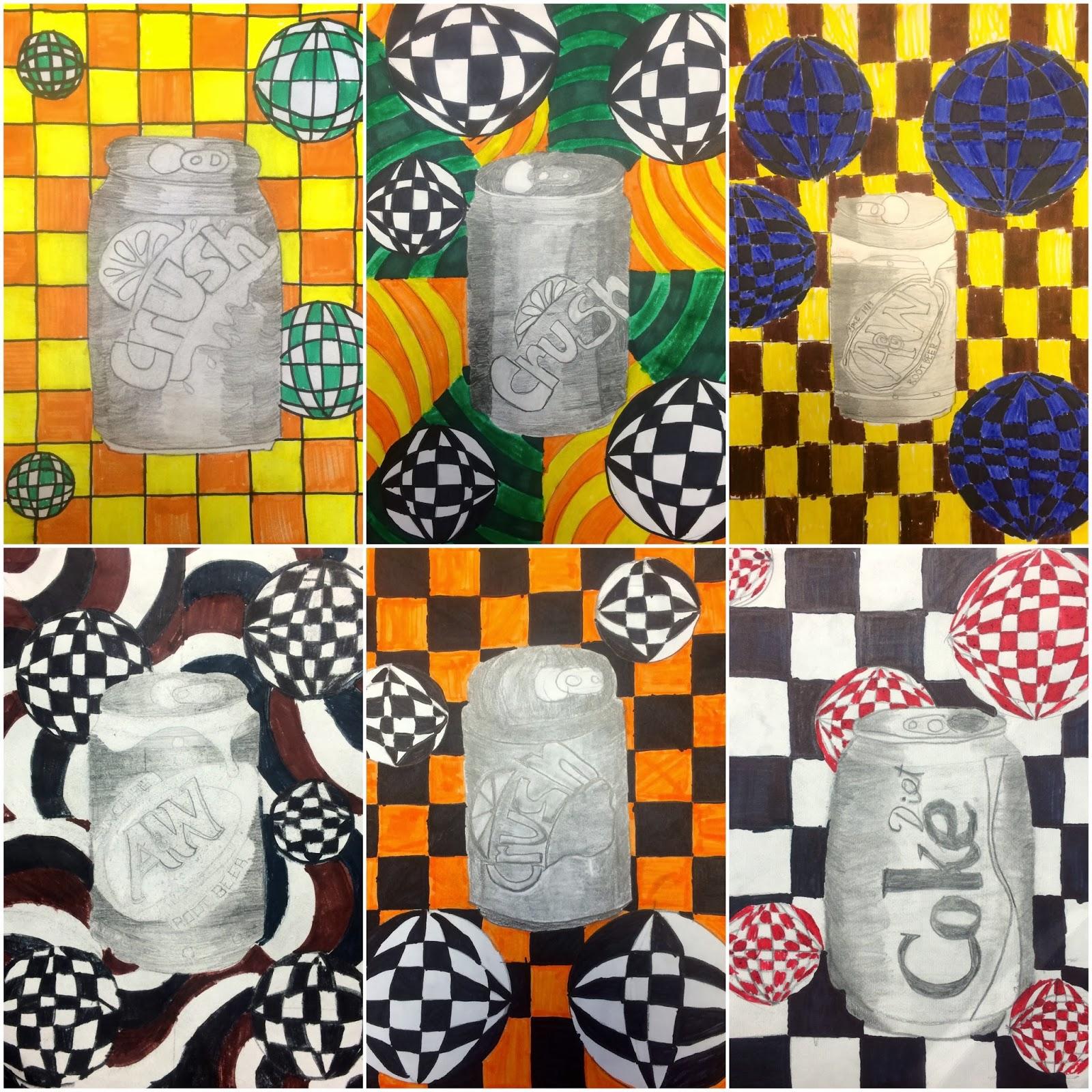 Art Eat Tie Dye Repeat 6th Grade Soda Can Op Art