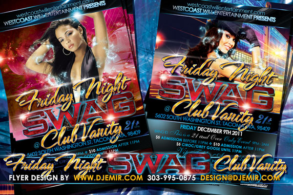 Friday Night Swag The Friday After Black Friday Flyer Design