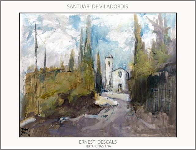 SANTUARI-VILADORDIS-RUTA IGNASIANA-PINTURA-ART-SANT IGNASI DE LOIOLA-LLOCS-PAISATGES-MANRESA-PINTURES-ARTISTA-PINTOR-ERNEST DESCALS-