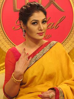 Sharmin Lucky In Yellow Saree