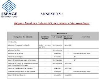 Régime fiscal des  indemnités, des primes et des avantages 1 ,