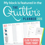 The Quilter's Planner 2016