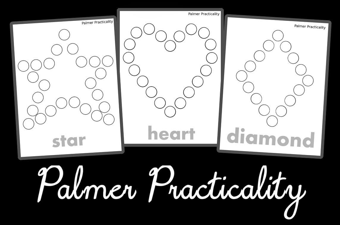Palmer Practicality: Do A Dot Printables- More Shapes