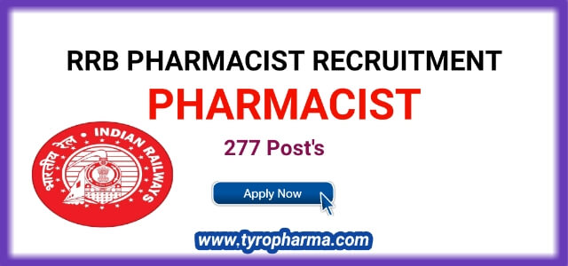 RRB Pharmacist Recruitment 2019 – Apply Online for Pharmacist RRB 277 Vacancies