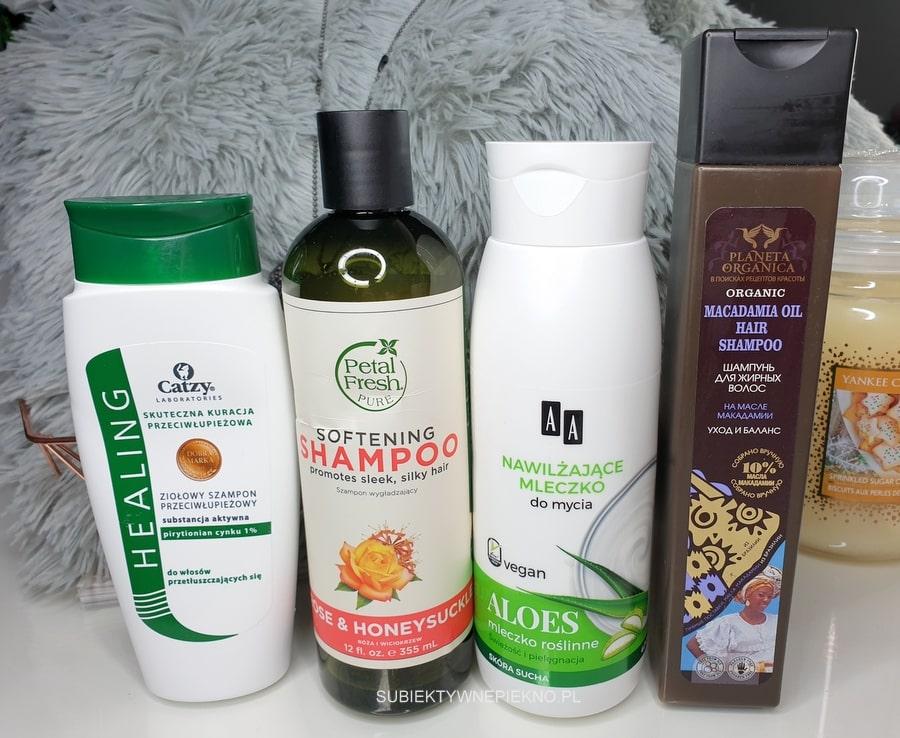 DENKO LISTOPAD 2018 - szampon Catzy, Petal Fresh, Planeta Organica, żel AA Vegan