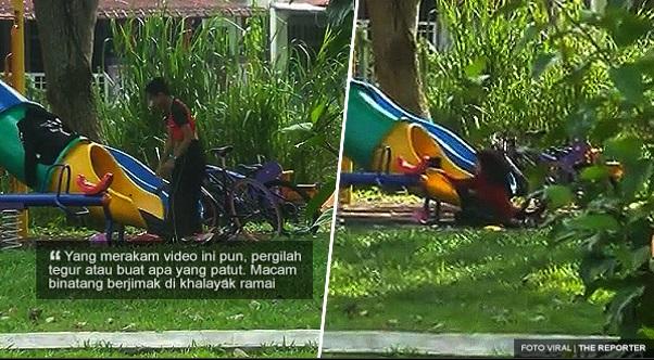 VIRAL. Pasangan Pelajar Bawah Umur Kantoi Jimak Di Taman Permainan. Perangai Macam Binatang.