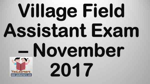 Village Field Assistant Hall Ticket Download