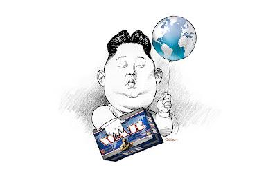 Resultado de imagem para charge do kim jong