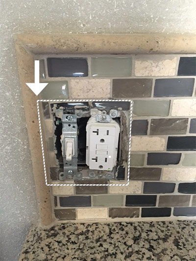 We Ve Outline The Area That Cover Plate Takes Up Around These Electrical Devices As You Can See Trim Tile Eats Into E Where