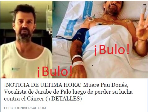 Jarabe de Palo: Pau Donés,  no ha muerto