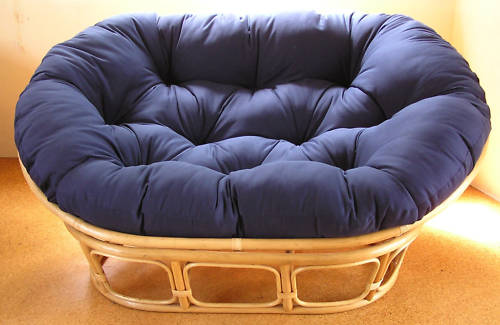Round Futon Chair Cushion Weight Limit Furniture Papasan For Your