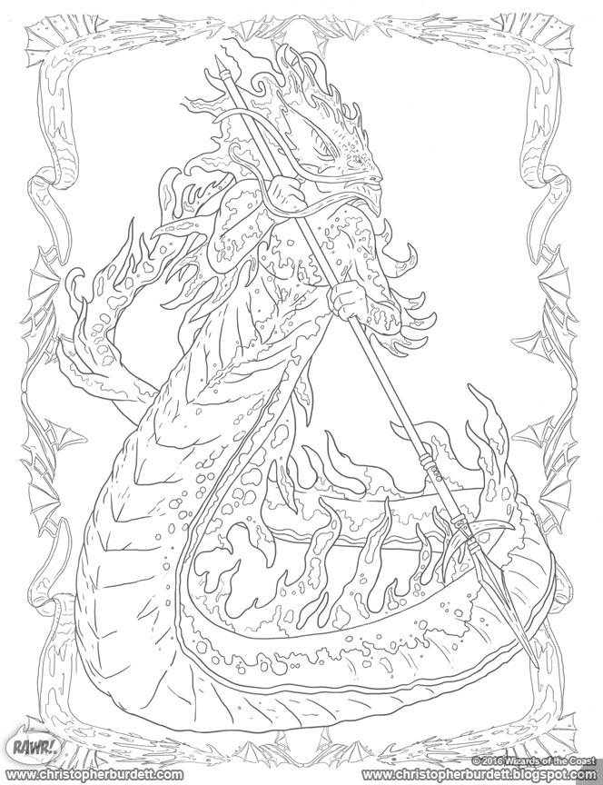 dungeons and dragons coloring pages - photo #40
