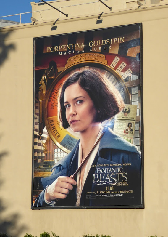 Porpentina Goldstein Fantastic Beasts movie billboard