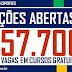 SECRETARIA DE EDUCAÇÃO E ESPORTES ABRE 57.700 VAGAS EM CURSOS GRATUITOS