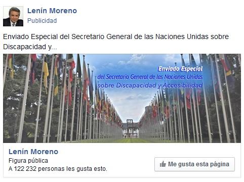 lenin moreno candidato a la presidencia de Ecuador