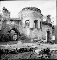Sekbanbaşı Mescidi, in February 1937. The Byzantine church (built in the 11th and early 12th century) was converted to a mosque in the 15th century. The mosque fell into disuse in the 1920s during the widening of the Ataturk Avenue in 1943 and was demolished in 1952 [Credit: © Nicholas V. Artamonoff Collection, Image Collections and Fieldwork Archives, Dumbarton Oaks]