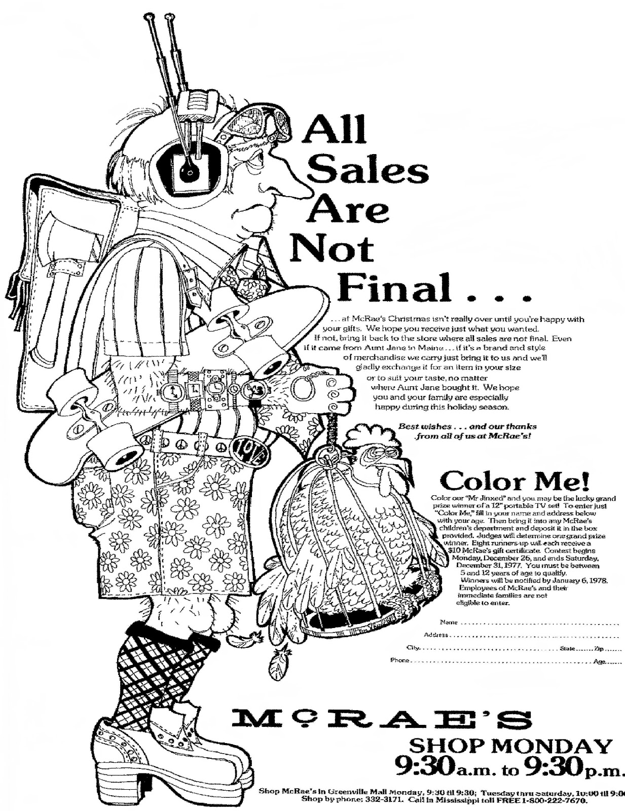 Mostly Paper Dolls Too!: ALL SALES ARE NOT FINAL