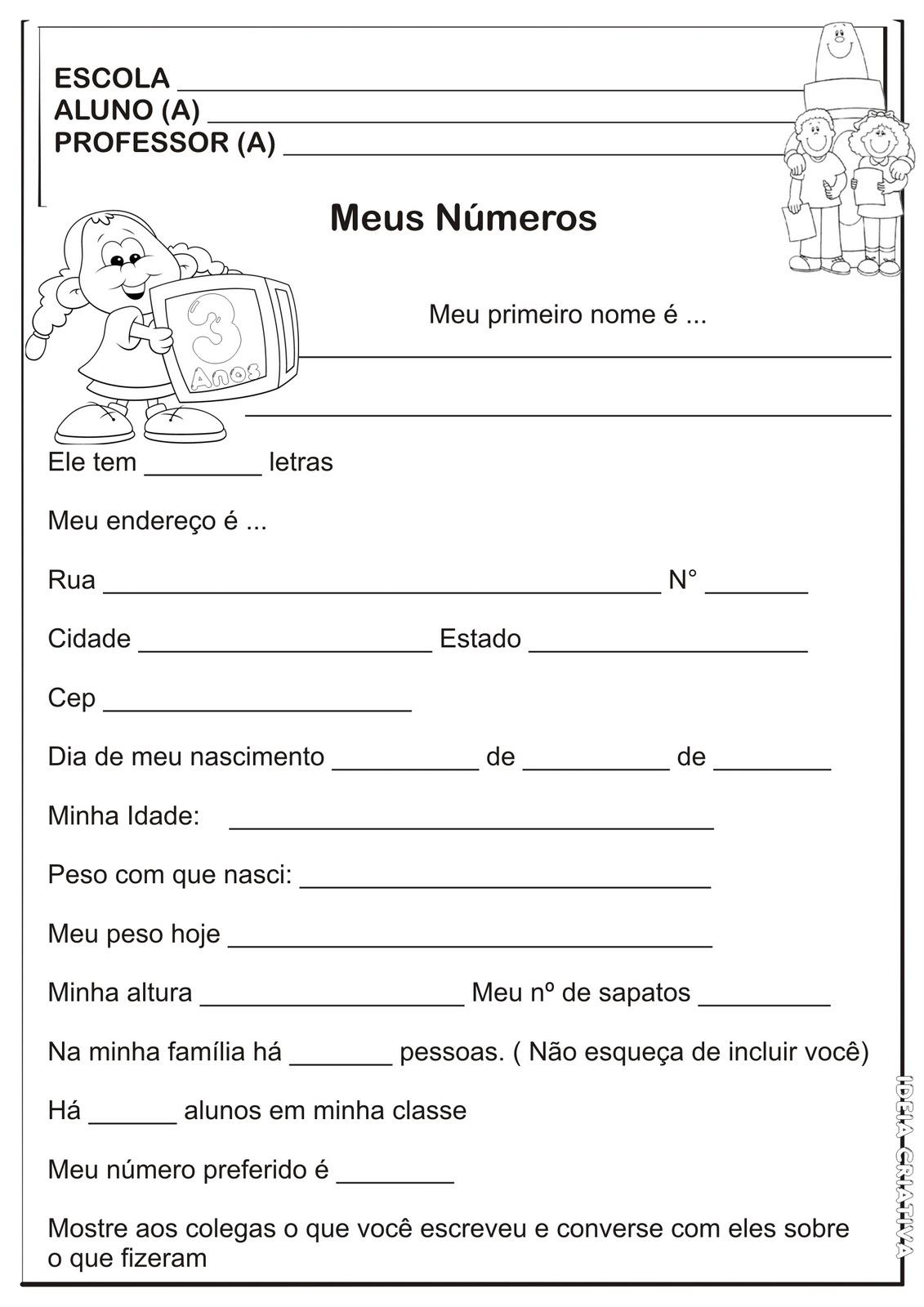 01ec76e89 Escola Estadual PDF   Atividades Escolares Variadas