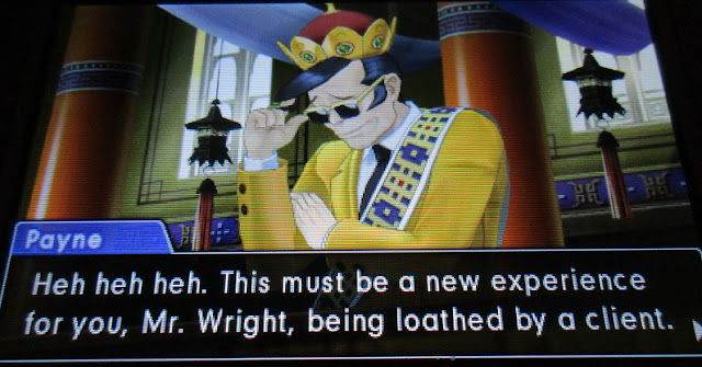 Gaspen Payne Phoenix Wright Ace Attorney Spirit of Justice demo loathed by a client