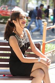 Actress Poojitha Pallavi Naidu Stills in Black Short Dress at Inkenti Nuvve Cheppu Movie Platinum Disc Function  0210.JPG