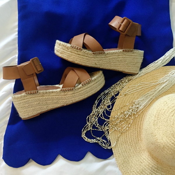 scallop dress, straw hat