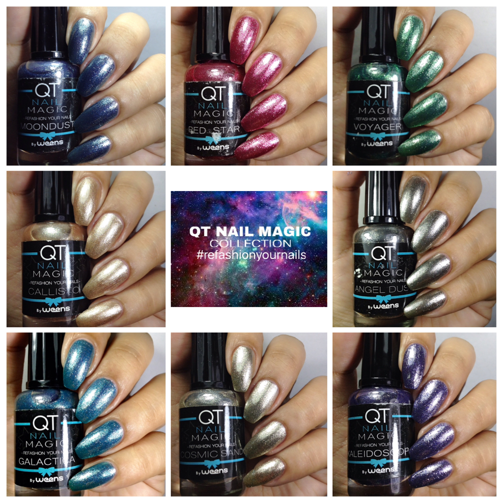 My nail art diary: QT Nail Magic Collection Swatches and Review