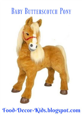Baby Butterscotch Pony Figure