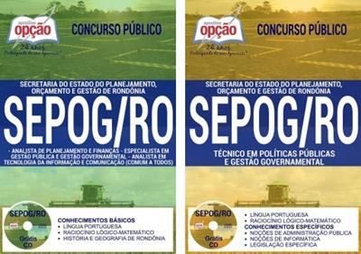 Apostila concurso SEPOG RO 2017