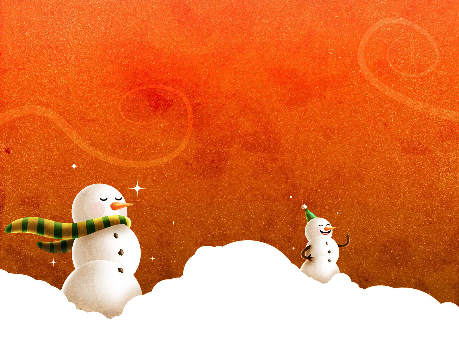 snowman desktop background-#12