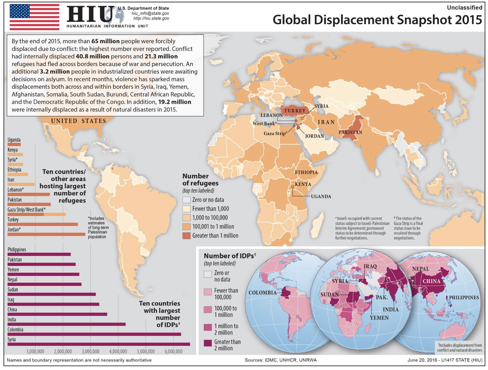 The Us State Department S Humanitarian Information Unit Has Put Together A Global Map Of The Situation Of Stateless People In The World As Of The End Of