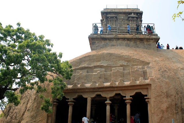 Olakkannesvara Temple on top of the Mahishasura mardhini cave