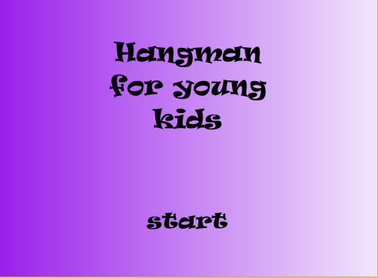 Tampilan membuat game hangman for the kids - flash actionscript 3.0