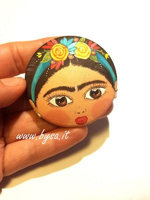 Frida Kahlo accessori dipinti a mano ciondolo