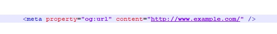 open graph URL meta tag