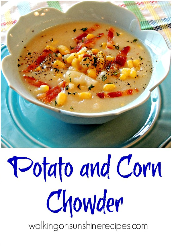 Potato and Corn Chowder is the perfect soup for the colder months AND you can make it in your crock pot.