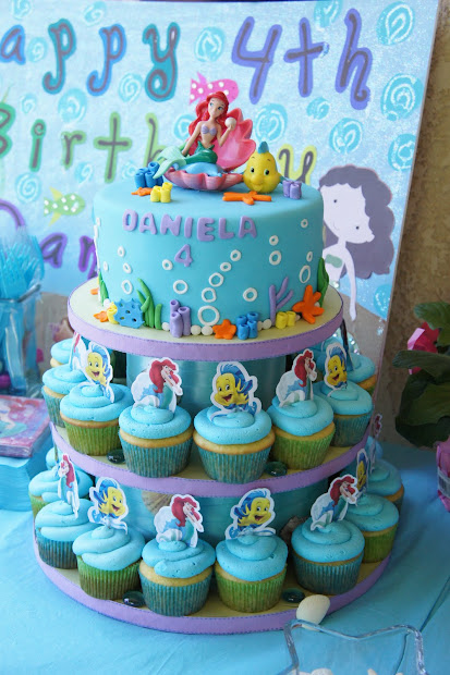 Little Mermaid Birthday Cake Idea