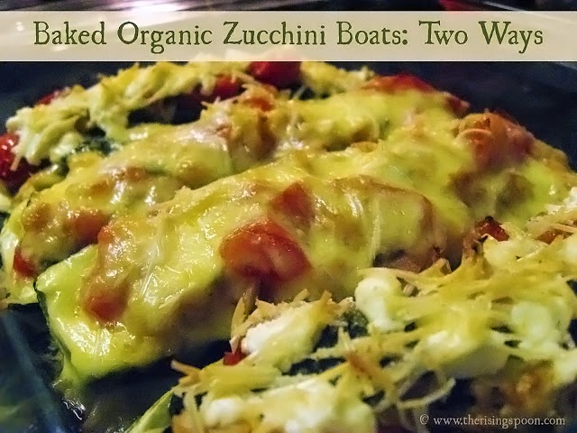 Baked Organic Zucchini Boats | therisingspoon.com