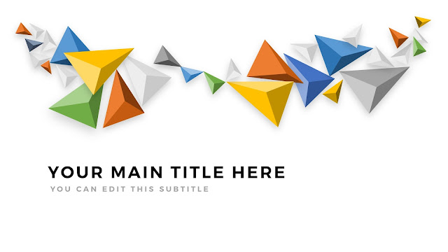 Presentation Title Templates with Abstract tetrahedron Diagrams Main title