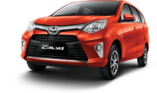 Toyota Calya Warna Orange Metallic