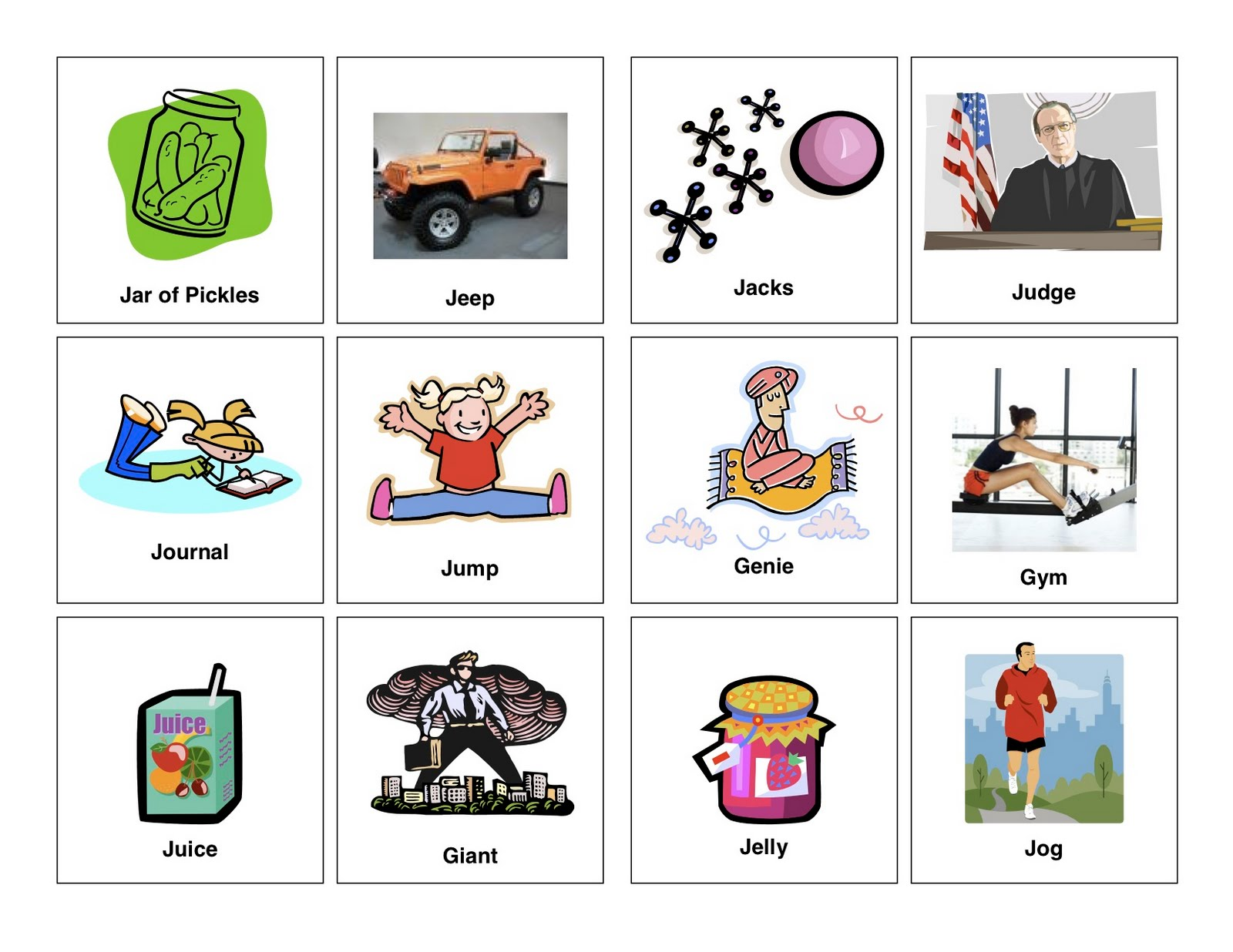 Clear Speech Therapy J Words