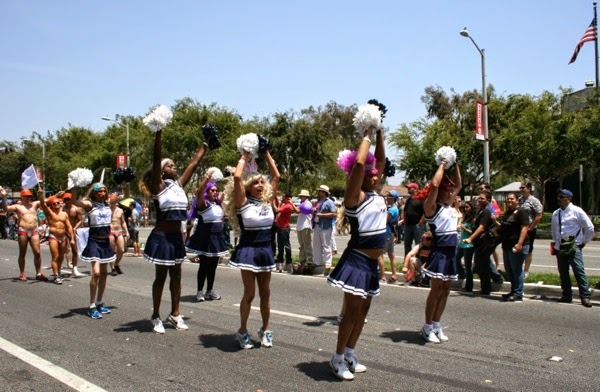 West Hollywood Pride Parade cheerleaders 2014