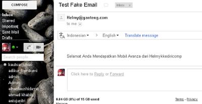 Mengirim Membuat Email Palsu