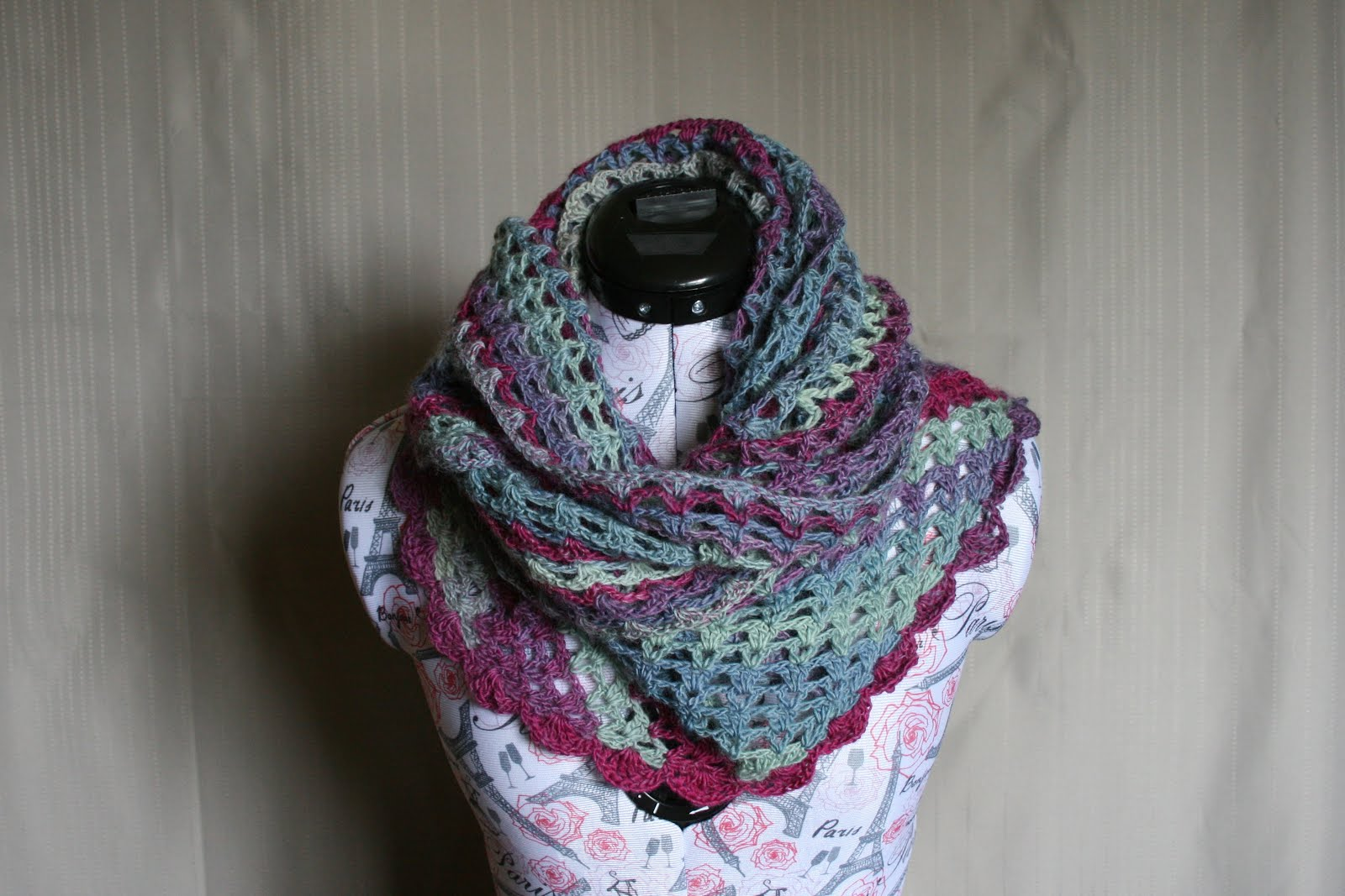 Posies in a Row Shawl Pattern