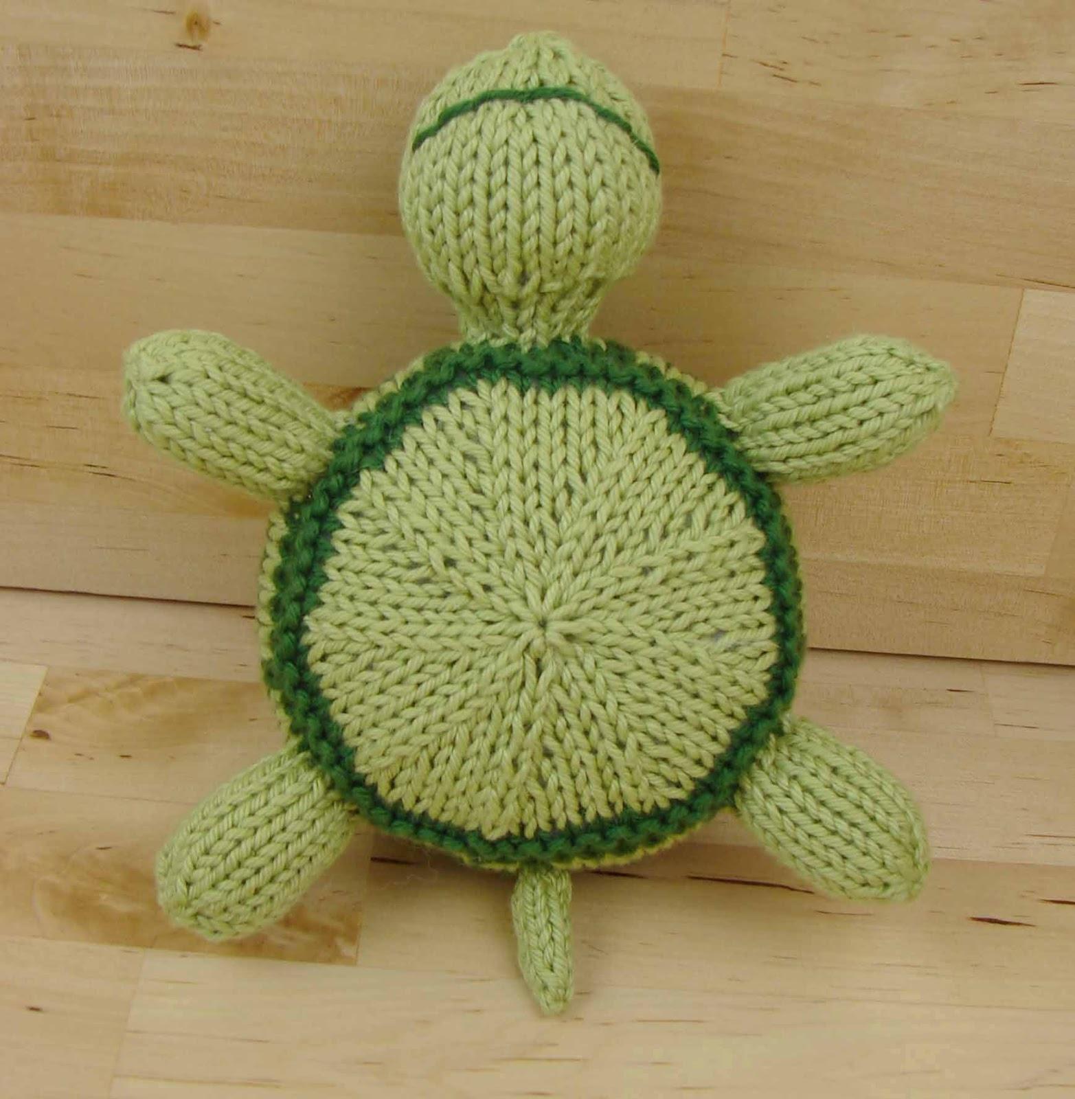 Knitting Patterns Turtle Toy : Auntie Ems Studio